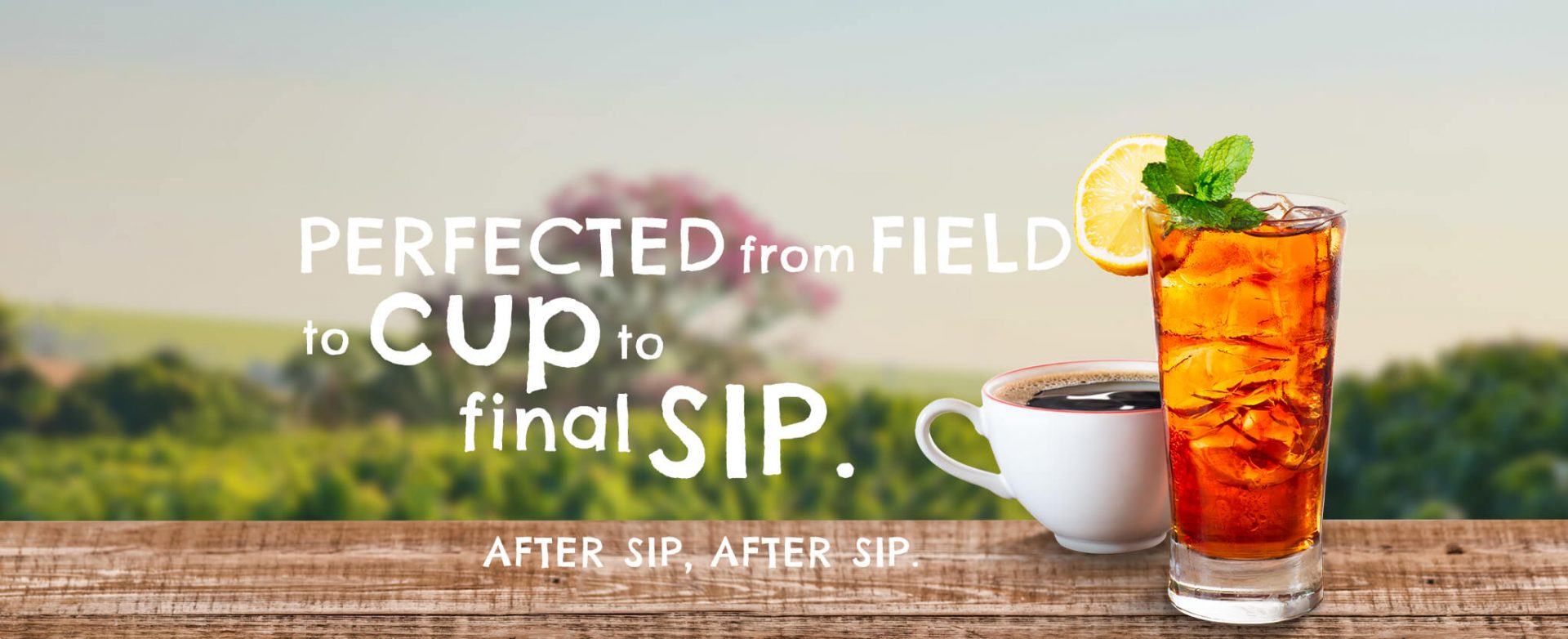 Protected from field to cup to final sip